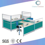 Green Color Partition Office Cubicle Group Workstation