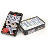 Double 6 9 12 15 Jumbo Color DOT Dominoes in Collectors Tin for Sale