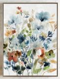 Multiclr Watercolor Floral Hand Embellishment Oil Painting on Canvas Wall Art Wall Pictures Framed for Living Room Home Decor Ol-2006291 Size 30X40 Inch