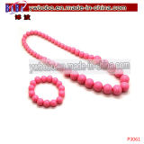 Costume Jewelry Plastic Necklace Bracelet Wholesale Girls Accessories (P3061)
