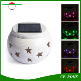New Stars Ceramic LED Solar Powered Light White/Changing Color Auto Atmosphere Decoration Indoor Home Garden Romantic Table Lamp