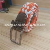 Nylon Ropes Braided Inelastic Waist Belt with Polished Buckle