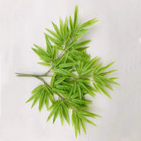 Light Green Real Touch Plastic Artificial Bamboo Tree Leaves for Landscape Decoration