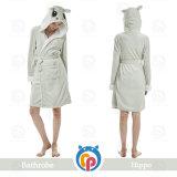 Custom 100% Polyester Bathrobe Kids Children Lady's Cheap Terry Bathrobe