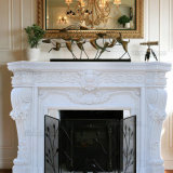 Stone Fireplace Surround Carving Marble Fireplace for Home Decoration (GSMF-221)