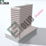 MDF Floor Slatwall Display Shelf Gondola Slatwall Display Rack Store Display Stand 4 Sides Fixtures