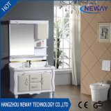 PVC White Painting Floor Mounting Bathroom Vanity