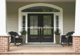 Operable Clear Glass Wrought Iron Double Doors