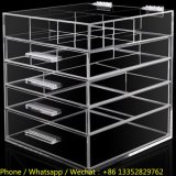 5 Tiers Transparent Lucite Makeup Storage Case with Drawers