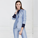 Latest Design Custom Embroidery Blue Work Uniform Suits