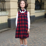2017 Girls Checked Dress for School Uniforms