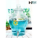 Three Size Wine Glass Bottle Glassware with Storage Jar