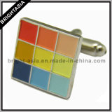 Fashion Accessory Enamel Cufflink for Promotion Gift (BYH-10238)