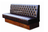 (SD-4004) Antique Chesterfield Leather Wooden Restaurant Furniture for Booth Sofa
