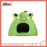 Lovely Frog Pet Bed in Green