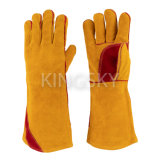 "Golden Cow Split Leather Anti Fire Welding Work Glove 14"" and 16"" for Welder"