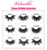 Premium Quality 5D Mink Lashes Customized Boxes Wholesale Price False Eyelashes