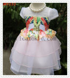 India High Quality Brithday Party Girls Wedding Dress with Organza