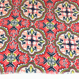 T/C 65*35 Polyester Cotton Terry Rayon Red Flower Fabric for Elder