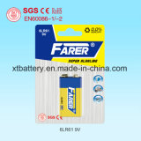 for Smoke Alarm Long Duration Farer Super Alkaline Dry Battery (6lr61 9V)