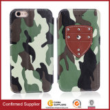 Camo Leather Wallet Flip Card Personalized Phone Case for iPhone 7