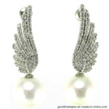 Wholesale Earring Price with Angel′s Wing Silver Stud Eaerring (E6668)