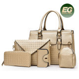 Fashion Woven Style Handbags Purses 5PCS in Set Bags Wholesale Women Tote Shoulder Bag Sy8243