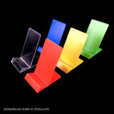 Cheap Acrylic Cell Phobe Display Rack / Colored Plastic Mobile Phone Stand