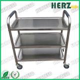 ESD Stainless Steel Metal 3 Tier Trolley