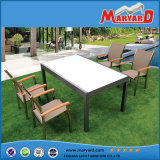 Factroy Wholesale Garden Extendable Table with Sling Textile Chairs