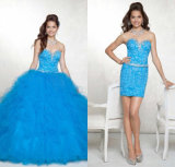 Multi Colors Quineanera Dresses Strapless Beading Applique Tulle Ball Gowns Ya71