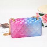Women PVC Colorful Cheap Clear Designer Purses Transparent Jelly Bag Cute Handbags
