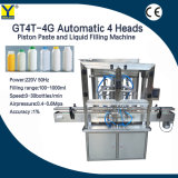 Gt4t-4G Automatic Piston Pneumatic Filler Hand Sanitizer Gel Cosmetic Cream Lotion Food Honey Butter Paste Bottle Can Jar Filling Machine