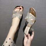 Fashionable Lady Sandals with Transparent Heel