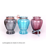 Cheap Colorful Wide Mouth Glass Vase for Flower Decoration