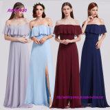 Blue Bridemaid Dresses New Elegant A Line off-Shoulder Wedding Party Gowns