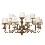 Iron Chandelier Lamp with Copper Decoration (SL2085-10+5)