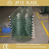 8mm Clear Curve Tempered/Toughened Glass for Shower Cabinet