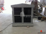 4 Niche Grey Granite Columbarium with Shanxi Black Doors
