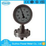 100mm Stainless Steel Liquid Filled Low Pressure Diaphragm Pressure Gauges