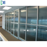 12mm Tempered Glass Office Partition Clear Glass Aluminum Frame Partition Wall