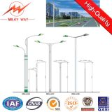 Highway Polygonal Street Light Poles Single Arm Outdoor Pole Square