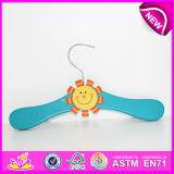 2014 Top Class Cute Wooden Kids Cloth Hanger, Popular Cheap Children Cloth Hanger, Hot Sale Lovely Baby Cloth Hanger W09b035