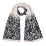 Women's 180*60cm Acrylic Reversible Cashmere Like Winter Warm Knitted Woven Shawl Scarf (SP258)