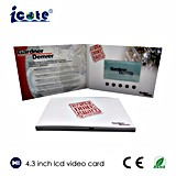 Video Card/Video Greeting Card/Video Business Card with 4.3 Inch