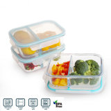 High Resistant Glass Meal Prepserve Food Container with Waterproof Lid