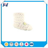 Women White PV Plush Indoor White Women Boots with Sequin