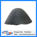 High Quality Mix Black Color Wool Felt Cone Hat Body for Women and Man