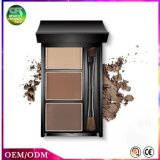 Get Gift 3 Colors in 1 Long Lasting Waterproof Makeup Eyebrow Powder with Mirror