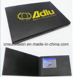 """Gold Stamped 2.4"""" LCD Leather Video Business Name Card"""